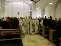 Zweiter Advent in St. Mauritius mit Messdieneraufnahme