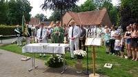 Freiluftgottesdienst mit der Schützenbruderschaft St. Jakobus Mitwick Weddern